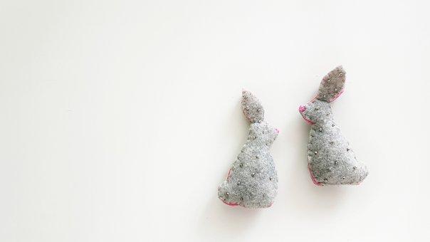 Needlework, Made By Hands, Russia, Hare, Rabbit, Felt
