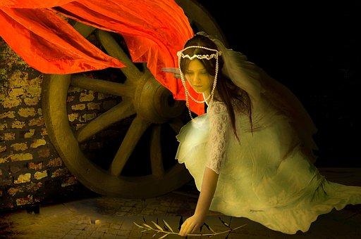 St Cathrine, Bride, Cellar, Red Rag, Wheel, Olive Tree