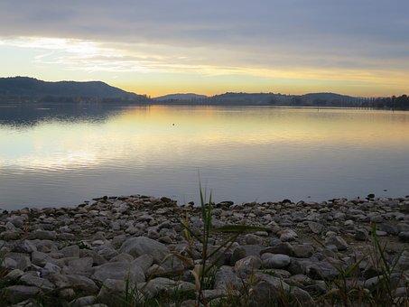 Lake Constance, Radolfzell, Abendstimmung, Romantic