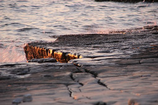 Sunset, Atmosphere, Light, Sea, Gout, Stone Coast