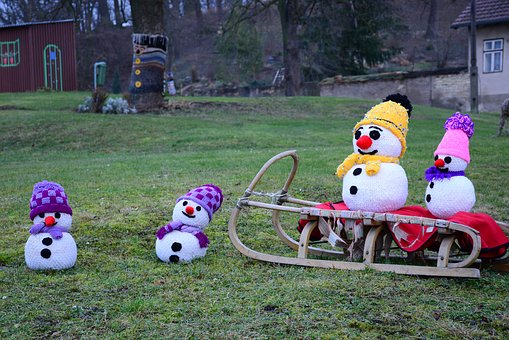 Snowman, Knitting, Winter, Toys, Color, Snow, Christmas