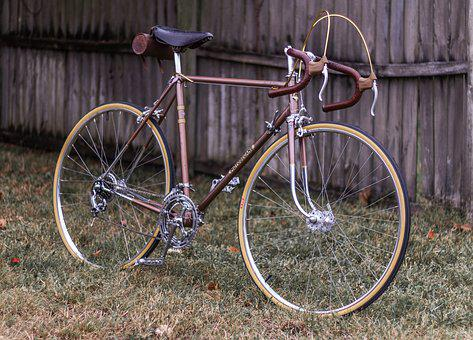 Vintage, Bicycle, French, Leather, Wheels