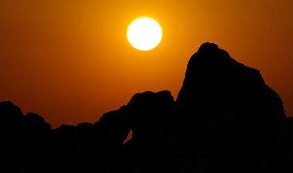 Skyline Arch Sunset, Arches, National, Park, Utah, Sky
