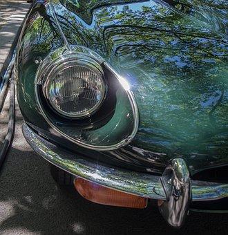 Jaguar, Spotlight, Auto, Oldtimer, Classic, Chrome