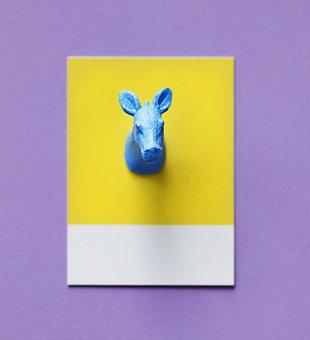 Abstract, Animal, Art, Background, Blue, Calf, Card