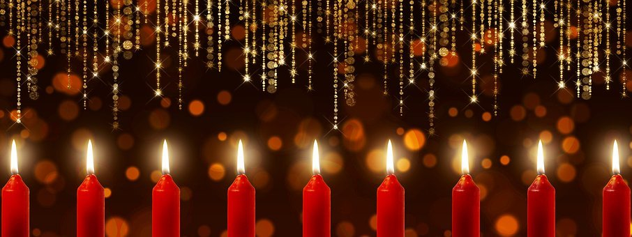 Candles, Bokeh, Specular Highlights, Candlelight