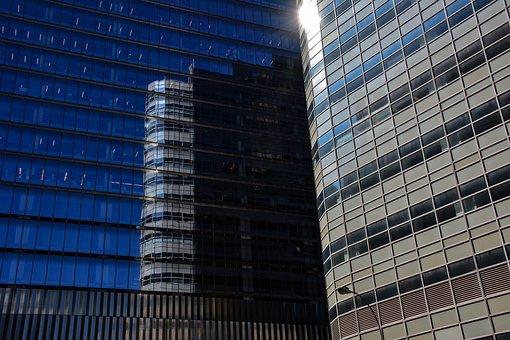 Building, City, Reflection, Facade, Modern, Skyline