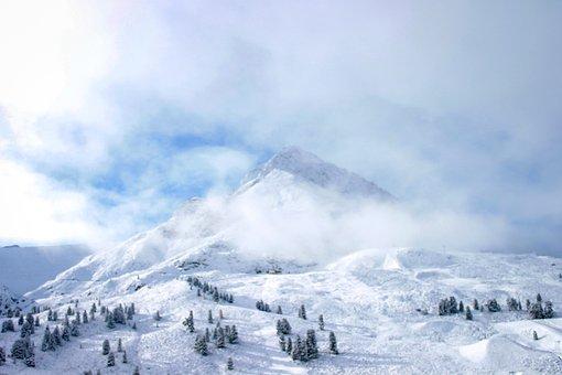 Mountain, Snow, Peak, Cloud, Sky, Mountains, Landscape