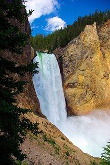 Lower Falls Of The Yellowstone, Yellowstone, Falls