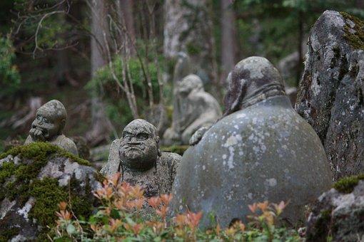 Guardian Deity Of Children, Temple, Japan