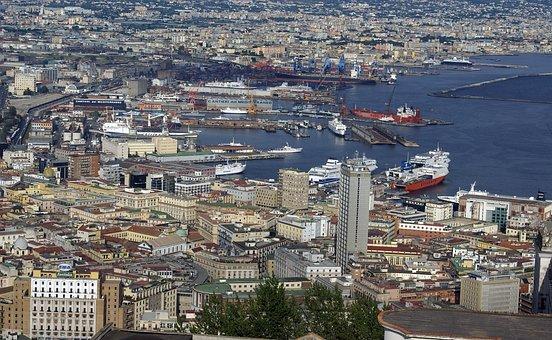 Naples, Porto, Shipyards, Refinery, Campania, Italy
