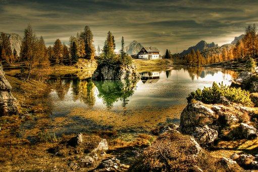 Twilight, Bergsee, Nature, Landscape, Sunset, Sky