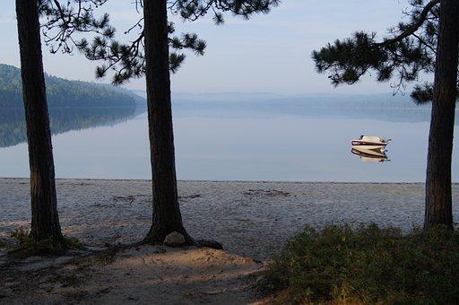 Lake, Beach, Water, Nature, Landscape, Coast, Summer