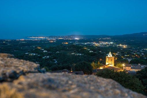 Twilight, Evening, Sea, St, Tropez, Landscape, Sky