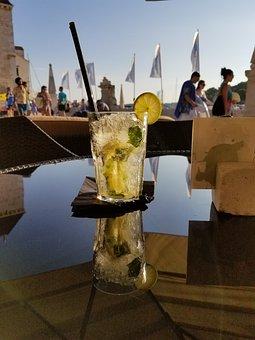 Glass, Drink, Beverage, Lemon, Refreshing, Mojito