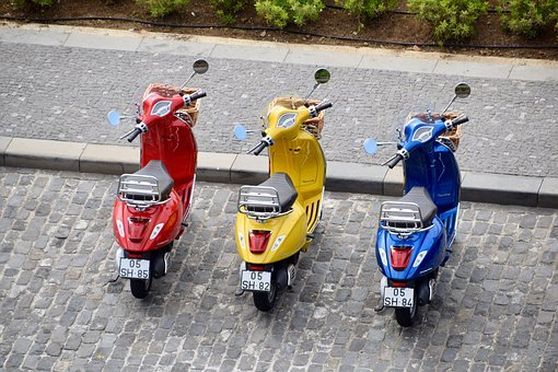 Mopeds, Scooters, Vespa, Piaggio, Motorcycles, Bikes