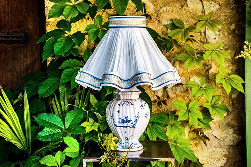 Lamp, Porcelain, French, Provencal, Provence, France