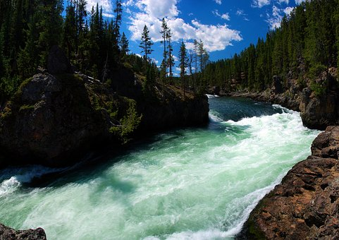River Above Lower Yellowstone Falls, Yellowstone, River