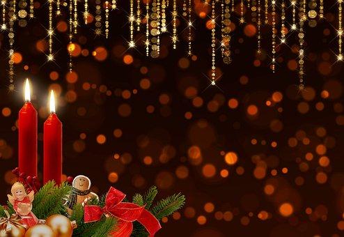 Advent, Candles, Advent Wreath, Bokeh, Glitter, Shining
