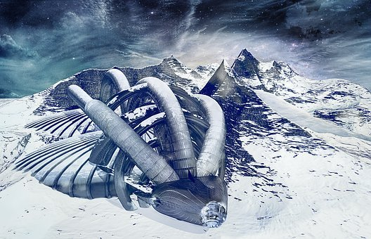Future, Space Travel, Forward, Futuristic, Ice Planet