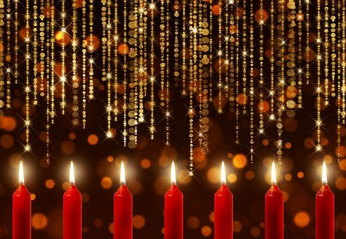 Candles, Bokeh, Specular Highlights, Candlelight, Noble