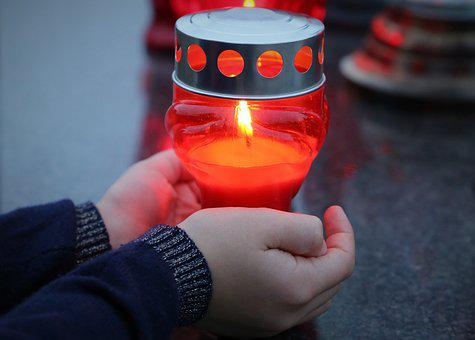 Stop Adult Suicide, Candle In Child Hands, Left Alone