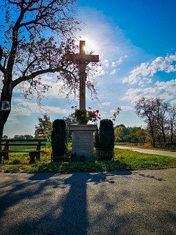 Cross, Sun, Autumn, Sky, God, Church, Jesus, Faith