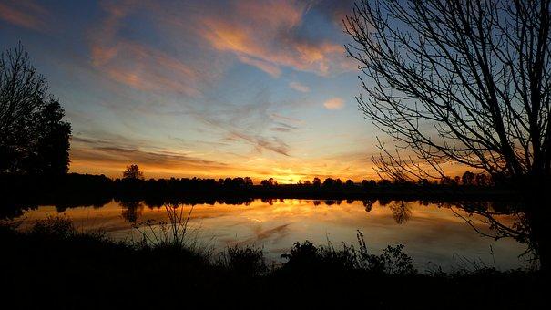 Morning, Nature, Wass, Water, Sunrise, Landscape, Blue