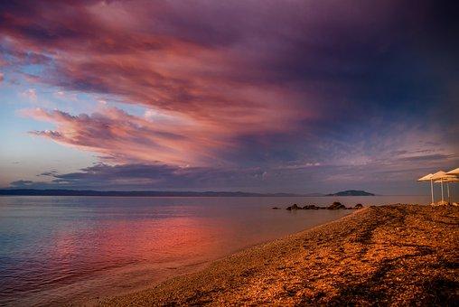 Sunset, Blue Hour, Sky, Abendstimmung, Twilight