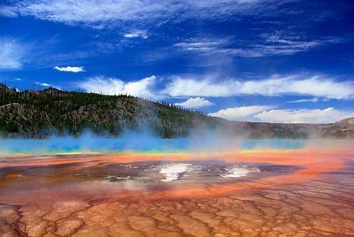 Vapors Over Grand Prismatic Spring, Thermal, Spring