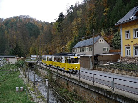Kirnitzschtalbahn, The Ostrava Mill, Campsite, Tram