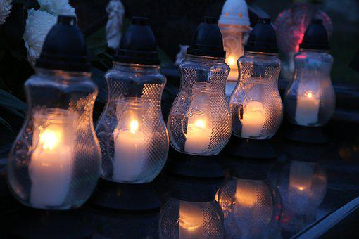 All Saints, White Candles, Lanterns, Illumination