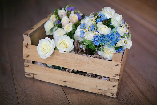 Deco, Wedding, Flowers, Box, Bouquet