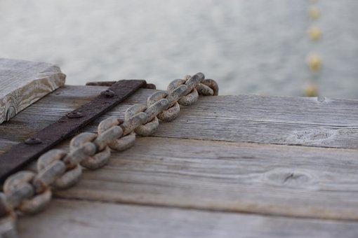 Rust, Rusty Chain, Chain, Box, Wooden Box, Closed