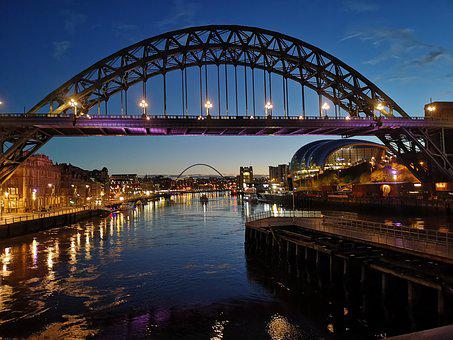 Tyne Bridge, Bridge, Dawn, River