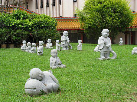 China, Statues, Chinese, Asia, Zen, Sculpture