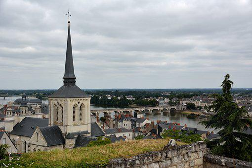 City View, Church, France, Heritage, Bridge, River
