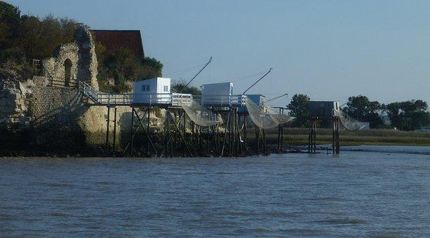 Fishing Huts, Heritage, River, Fishing, Gironde