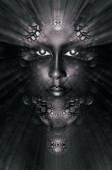 Book Cover, Portrait, Face, Gothic, Magic, Light