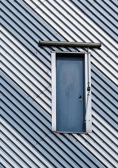 Facade, Building Facade, Door, Structures, Lines