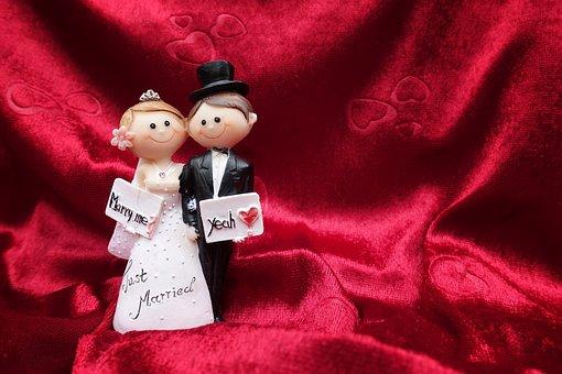 Bride And Groom, Wedding, Love, Romance, Marry