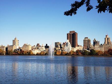 Central Park, New York, Nyc, Skyline, Manhattan, Park