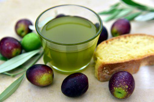 Olive Oil, Olives, Bread, Olive Branch, Mediterranean