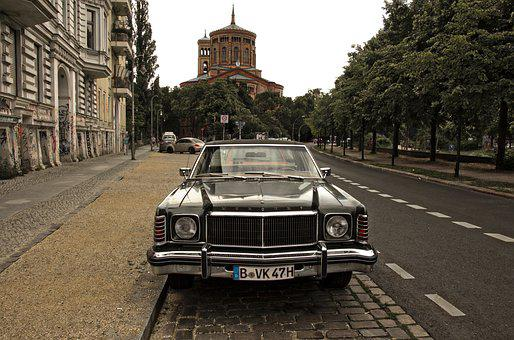 Car, Berlin, Vehicle, Automobile, Classical, Nostalgia