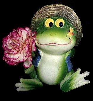 Frog, Garden, Statue, Ornament, Funny