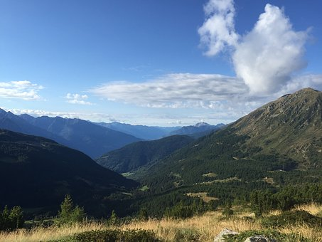 Sky, Mountains, Outdoors