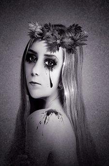 Portrait, Woman, Face, Mystical, Mysterious, Fantastic