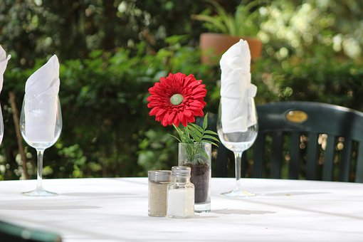 Flower, Restaurant, Table, Morning