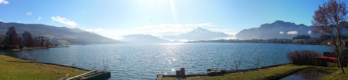 Upper Austria, Salzkammergut, Mondsee, Lake, Landscape
