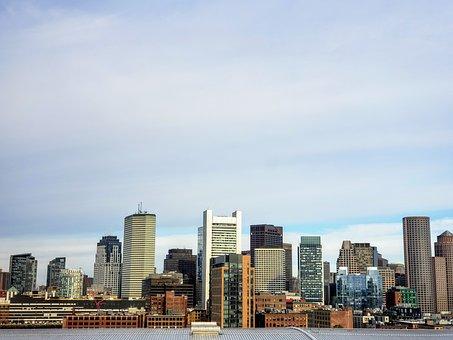 Boston, Skyline, Boston Skyline, City, Skyscraper